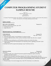 computer programmer resume samples resume sample computer programming student http resumecompanion