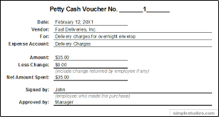 Petty Cash Slip Accounting And Procedures For Petty Cash Accounting Guide
