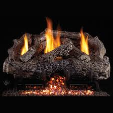 peterson 24 inch natural gas charred aged split log set