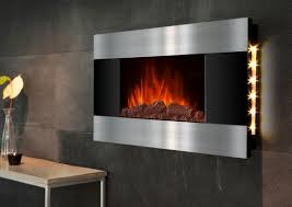 wall mount fireplace with backlit led