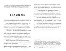 fish cheeks haiku learning
