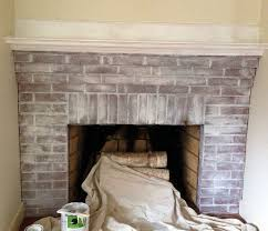 easiest way to paint brick white painted fire surround paint for stone fire surround