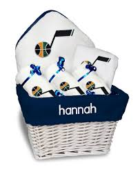 personalized utah jazz um gift basket
