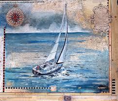 Paintings On Nautical Charts Jennifer Winship Mark Available Paintings Nautical Charts