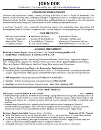 Banker Resume Examples Examples Of Resumes