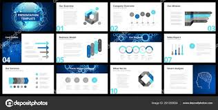 Company Overview Slides Business Presentation Templates Vector Infographic Elements Company