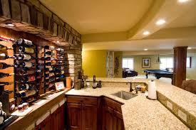 Wine Bar Basement Remodel traditional-home-bar