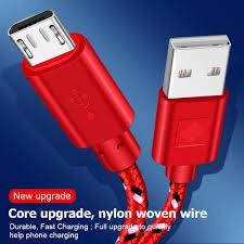 <b>OLAF Nylon</b> Braided Micro <b>USB</b> Cable Data Sync <b>USB</b> Charger ...