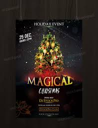 Free Christmas Flyer Templates Download Download Magical Christmas Free Psd Flyer Template Free