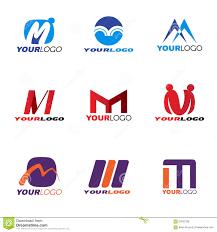 How To Design A Logo For Free Samples Letter M Logo Vector Set Design Stock Vector Illustration