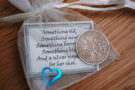 sixpence bridal gift something blue traditional good luck charm