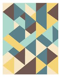 Sixties Art Mid Century Posters retro art print by angelaferrara, $18.00. Geometric  Pattern DesignRetro ...