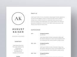 August Kaiser Resume Cv Template Resume Templates Creative