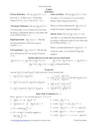 calculus review sheet calculus cheat sheet google search school pinterest