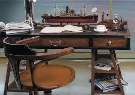 home office decor featuring navy deskwith pursers desk chair empress magnifier tramp steamer ship