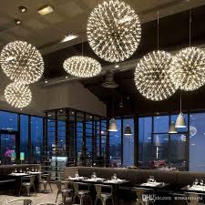 incredible large pendant light led modern lamp firework ball star hanging fixture hotel ping mall cafe