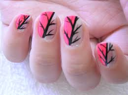 Simple nail art short nails - how you can do it at home. Pictures ...
