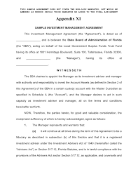 Investment Agreement Templates Enhanced Cash Investment Management Agreement Form