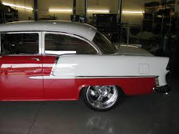 1955 Chevy 2-Door Red and White