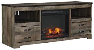 urban rustic furniture. Signature Design By Ashley Urban Rustic Large TV Stand With Fireplace Insert - Item Number: Furniture