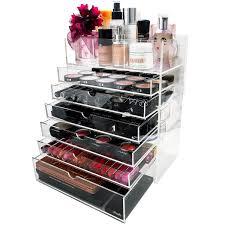 large lightingbox canada 6 drawer whole divisoria lipstick cosmetic black acrylic make up organizer with drawers