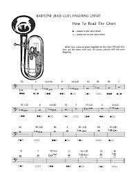 3 Treble Clef Euphonium Fingering Chart Baritone Horn