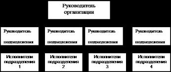 Реферат Типы организационных структур управления Основные  Рис 1Линейная организационная структура