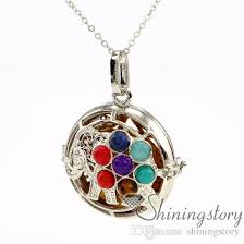 whole elephant chakra healing pendants essential oil jewelry aromatherapy jewelry necklace diffuser pendant perfume bottle necklace stone openwork rose