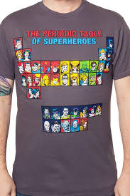 Periodic Table of Superheroes Shirt: DC Comics Mens T-shirt
