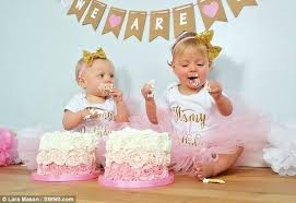 Cake For Twins Split Birthday Ideas Pandamedia