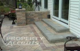 stone patio steps elevated with walls photo 2 installing pa