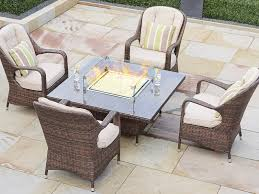 seat square gas fire pit dining table