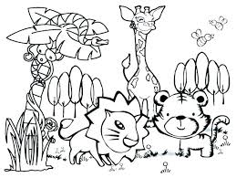 Zoo Coloring Page Zoo Coloring Pages Printable Pictures Animals