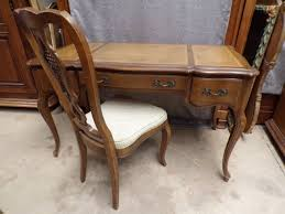 english hickory vintage writing desk with leather top and matching chair