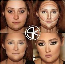 contour makeup before and after. heavy highlighting contour makeup before and after