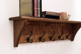 entryway coat rack wood wall shelf 35
