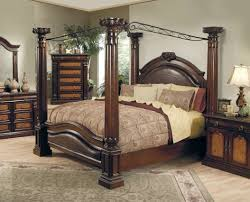 Stunning View Of Various Exotic Canopy Bed Designs Beautiful Wooden Design  In Luxurious Dark Brown Bedroom