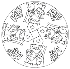 Kleurplaat Mandala Animaatjesnl