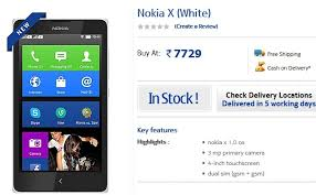 nokia smartphone android price. nokia x dual sim android smartphone price dropped to rs. 7,729 | technology news