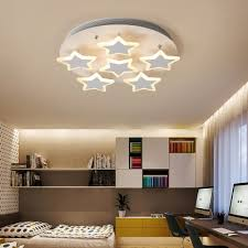 Flush Ceiling Lights Living Room Beauteous Nordic Style Star Accent LED Flushmount Ceiling Light For Living