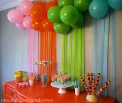 home decorating ideas for birthday party decor color ideas luxury