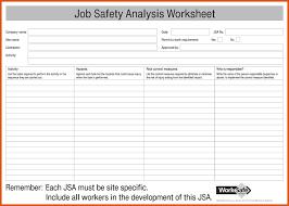 Job Hazard Analysis Worksheet Job Safety Analysis Form Template Sample Resume Resume Templates