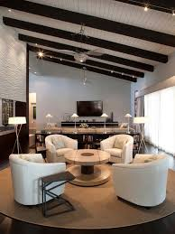 floor sitting furniture. example of a large trendy open concept dark wood floor living room design in phoenix with sitting furniture r