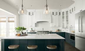 two toned kitchen cabinet