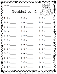 Doubles Addition Worksheet The Multiplying From To With Questions ...