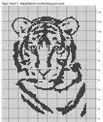 Filet Crochet Charts And Graphs Filet Crochet Tiger Chart 1 Pattern By Teresa Richardson