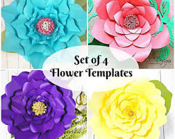 Giant Paper Flower Template Pdf Free Printable Flower Template Pdf Download Them Or Print