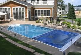 retractable pool cover. On-Deck Track Automatic Pool Covers Retractable Cover O