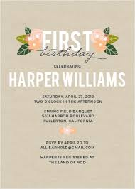 Girls First Birthday Invitations By Basic Invite Cool Birthday Invitation Pictures