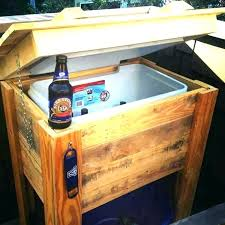 outdoor wooden ice chest plans how to build a free rustic new patio and pallet cooler diy wood ice box plans best cooler
